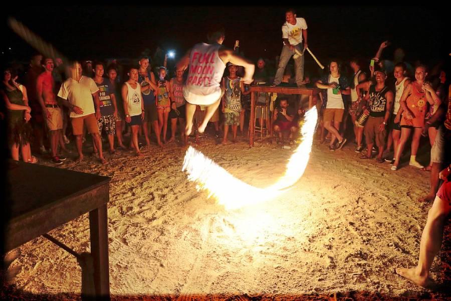 full moon party at Thailand beach in Koh Phangan