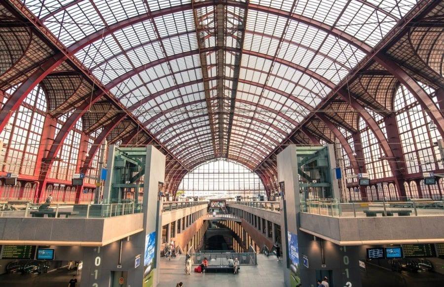 Backpacking Europe - Train Station