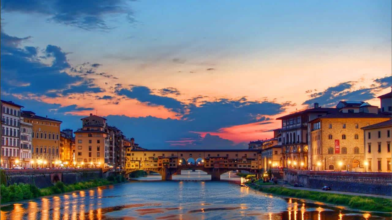 Ponte Vecchio sunset