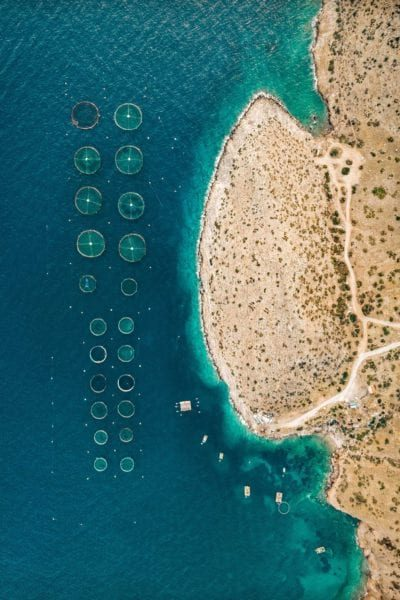 Drone Shot of Greek Beach